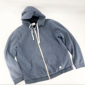 Marine layer zip up hoodie sweatshirt